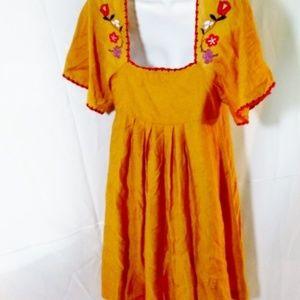 Madewell Dresses - NEW MADEWELL Embroidered PUEBLA Peasant Dress